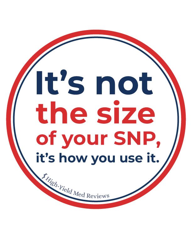 SNP words in circle