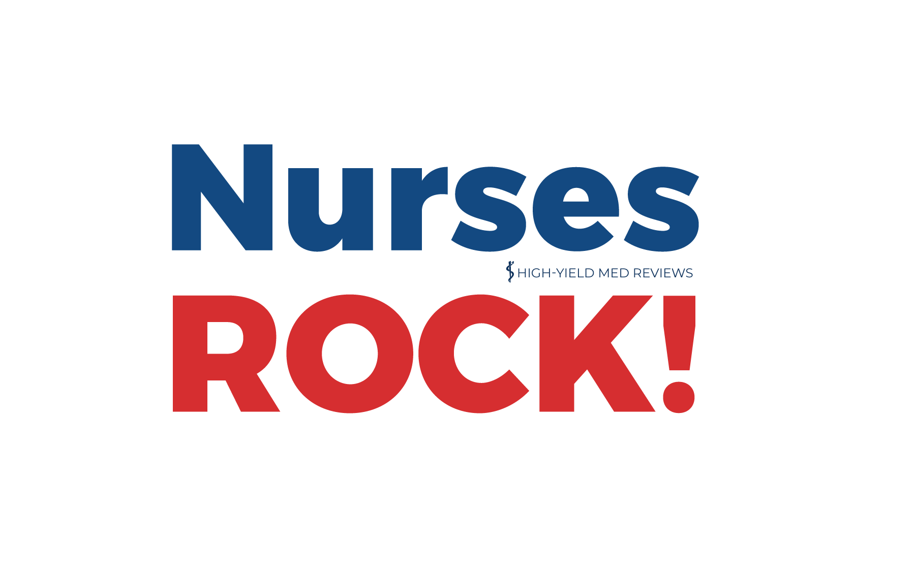 Nurses Rock red/blue text